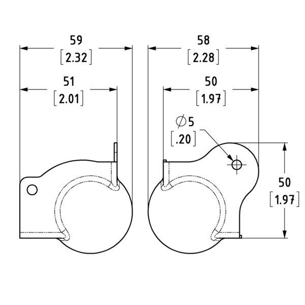 C1359-pallokulma-raudalla-mittakuva