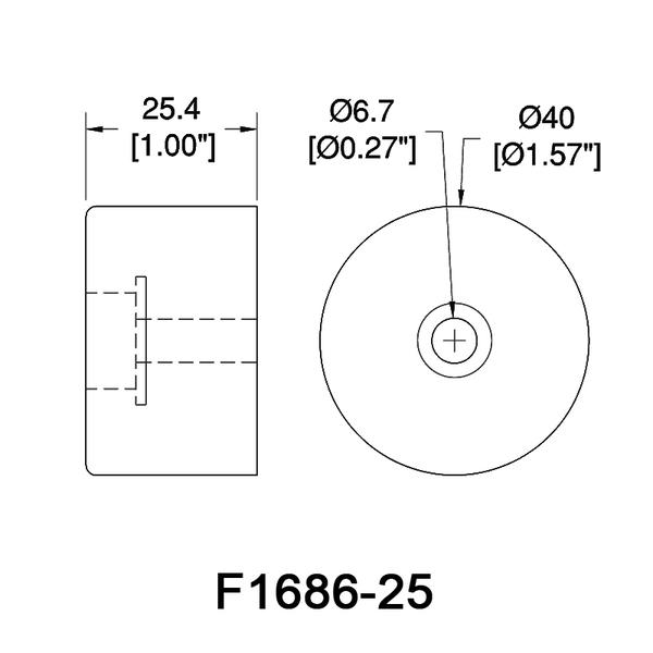 F1686-kumitassu-25mm-mittakuva