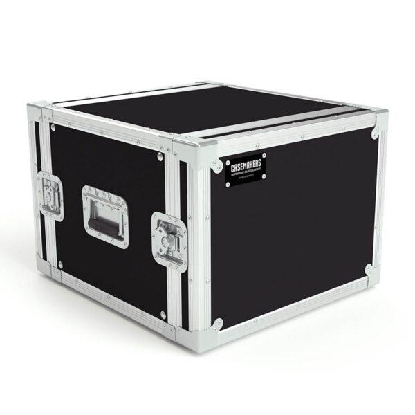 8U rack case lids closed